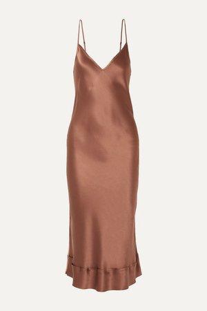Lee Mathews | Stella silk-satin midi dress | NET-A-PORTER.COM