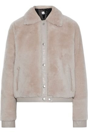 Lisbet leather-trimmed shearling coat | IRIS & INK | Sale up to 70% off | THE OUTNET