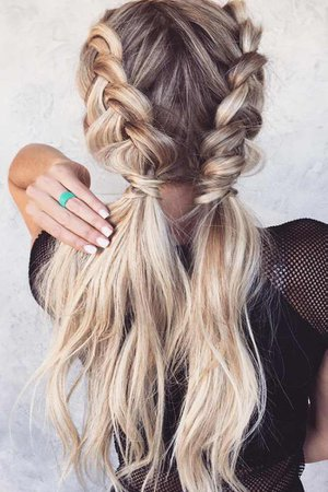 french braid into low ponytail - Google Search