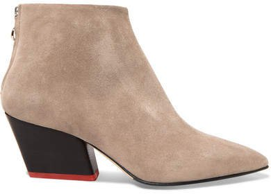 aeydē Suede Ankle Boots - Tan