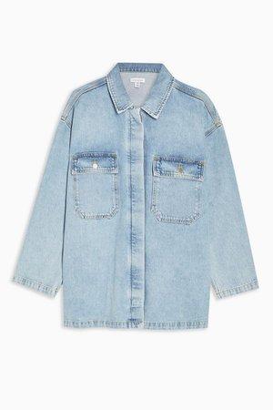 **Oversized Denim Jacket by Topshop Boutique | Topshop