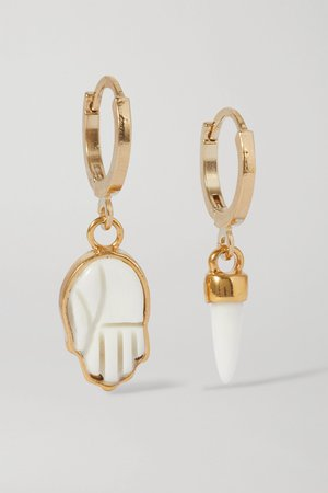 Ivory Gold-tone and bone earrings | Isabel Marant | NET-A-PORTER