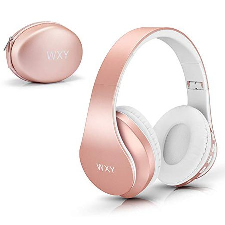 Amazon.com: Over Ear Bluetooth Headphones, WXY Girls Wireless Headset V5.0 with Built-in Mic, Micro TF, FM Radio, Soft Earmuffs & Lightweight for iPhone/Samsung/PC/TV/Travel(Rose Gold): Home Audio & Theater