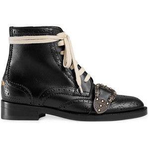Gucci Black Queercore brogue boots
