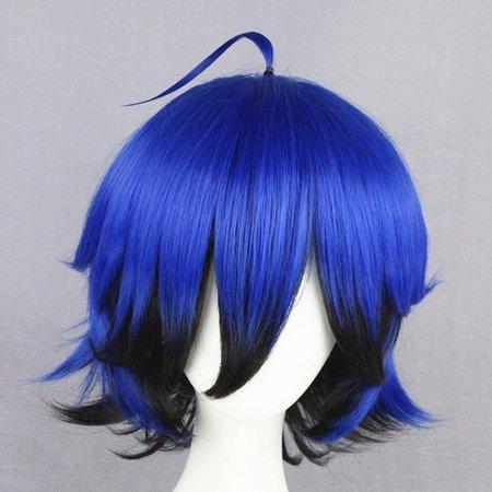 Blue With Black Underside Wig