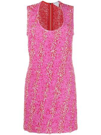 Bottega Veneta Bouclé Patterned Mini Dress - Farfetch