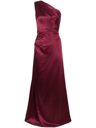 Dolce & Gabbana draped silk evening gown