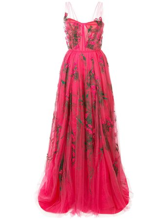 Carolina Herrera embroidered tulle gown £13,585 - Shop Online SS19. Same Day Delivery in London