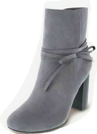 Christian Siriano gray boots