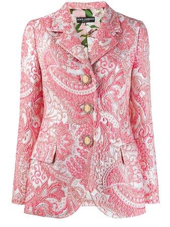 Pink Dolce & Gabbana Jacquard Blazer | Farfetch.com