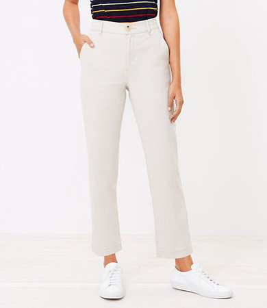 The Petite Perfect Straight Pant in Washed Twill