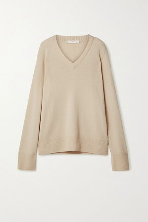 Beige Elaine oversized wool and cashmere-blend sweater | The Row | NET-A-PORTER