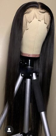 black straight lace wig