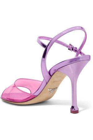 Prada | Metallic leather and PVC sandals | NET-A-PORTER.COM