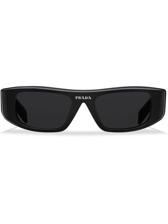 Shop black Prada Eyewear square-frame sunglasses with Express Delivery - Farfetch