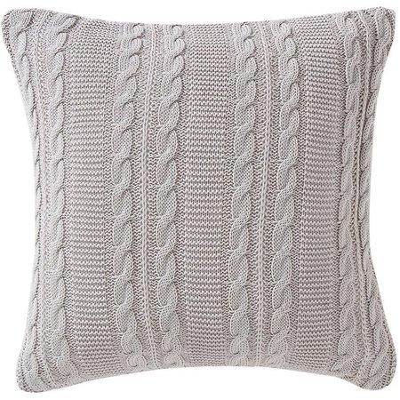 """VCNY Home Dublin Cable Knit Square Decorative Throw Pillow, 18"""" x 18"""", Navy Blue - Walmart.com - Walmart.com"""