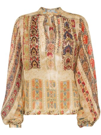 Shop multicolour Etro paisley print silk blouse with Express Delivery - Farfetch