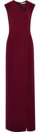 Split-front Crepe Gown