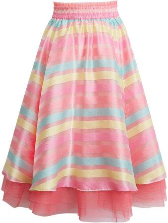 x Atlantic-Pacific Stripe Organza Skirt