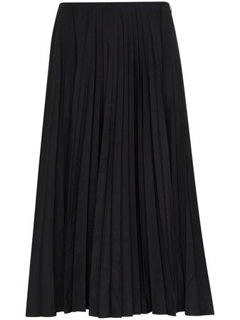 Valentino Pleated Midi Skirt - Farfetch