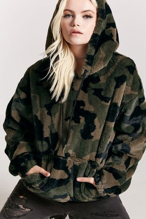 camo fluffy jacket - Google Search