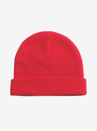 *clipped by @luci-her* Red Watchman Beanie
