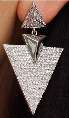 Silver Crystal Fancy Earring
