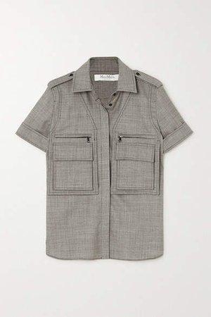 Dovere Wool-blend Shirt - Gray