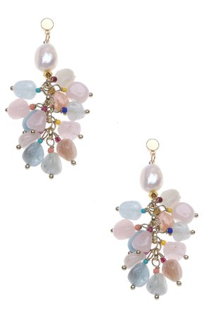 Nakamol Chicago Pearl and Semiprecious Stone Cluster Earrings | Nordstrom