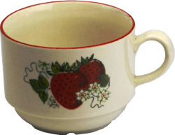 Strawberry teacup png