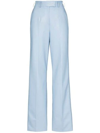 Shop blue ANOUKI tailored straight-leg trousers with Express Delivery - Farfetch