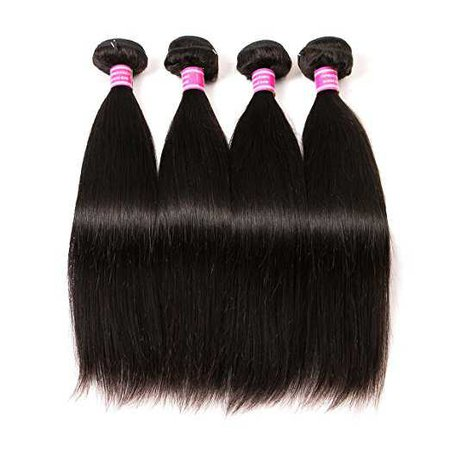 Amazon.com : QinMei Brazilian Hair Straight 8A Grade 100% Unprocessed Virgin Human Hair 3 Bundles Weave Natural Color (10 12 14inches) : Beauty
