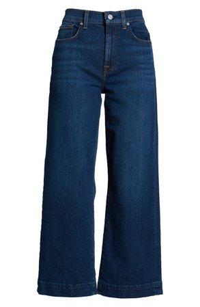 7 For All Mankind® Alexa High Waist Crop Wide Leg Jeans (Fletcher Drive)
