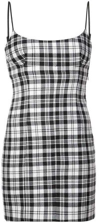 Alexander Wang checked mini dress