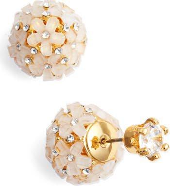 Nina Front to Back Flower Ball Earrings   Nordstrom