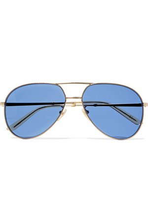 Gucci   Aviator-style gold-tone sunglasses   NET-A-PORTER.COM