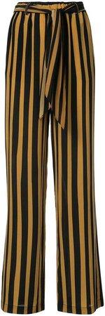 Rockins tie waist striped trousers
