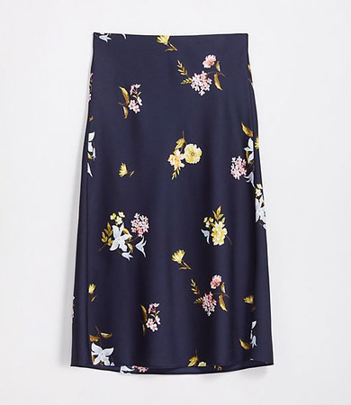 Petite Bloom Pull On Midi Skirt