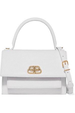 Balenciaga | Sharp XS lizard-effect leather shoulder bag | NET-A-PORTER.COM