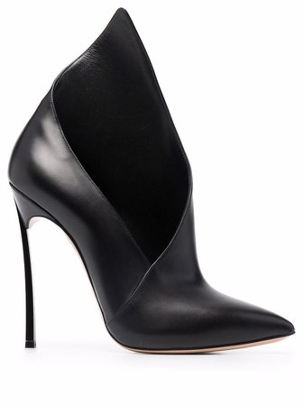 Casadei Asymmetric high-heeled Pumps - Farfetch