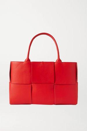 Red Intrecciato leather tote | Bottega Veneta | NET-A-PORTER