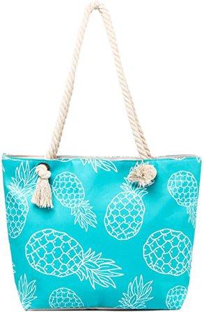 Amazon.com: Beach Tote Bag - Graffiti Pineapple: Clothing