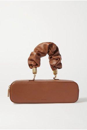 Kinchaku Mini Leather Tote - Tan