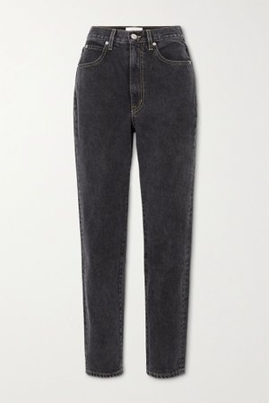 Charcoal Beatnik high-rise slim-leg jeans | SLVRLAKE | NET-A-PORTER