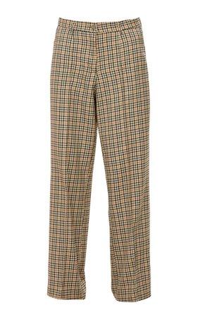 Mach & Mach Wide-Leg Check Trousers