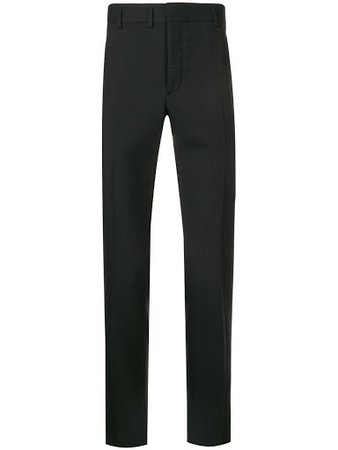 Saint Laurent Low Rise Tailored Trousers - Black