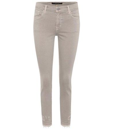 Capri Mid-Rise skinny jeans