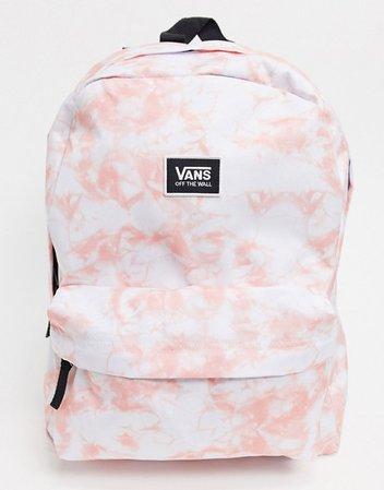Vans Realm Classic backpack in tie dye pink | ASOS