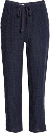 Tie Waist Ankle Pants