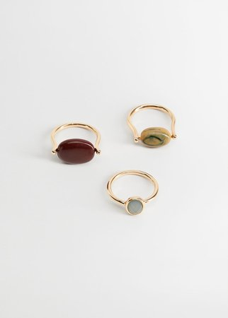 Beaded ring set - Women | Mango USA